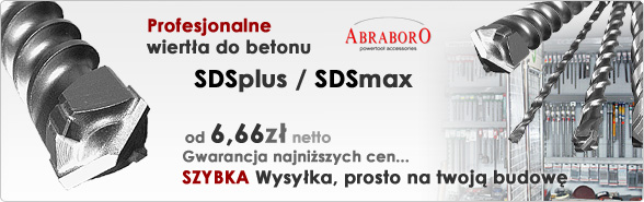 Abraboro wiertła do betonu sds + plus max